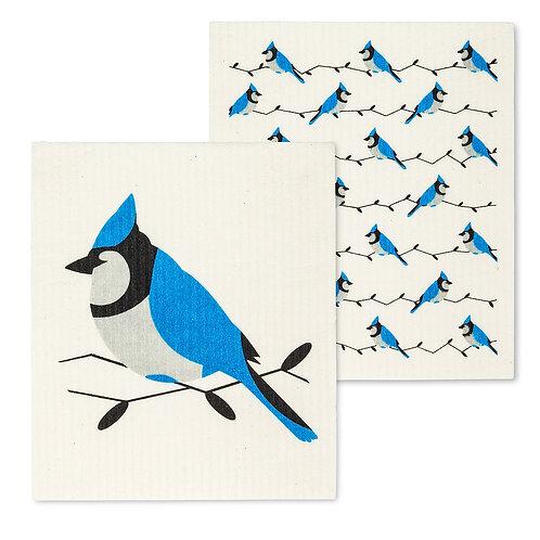 Blue Jay Dishclothes - Set of 2
