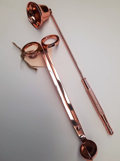Candle Snuffer/Wick Trimmer Set Rose Gold