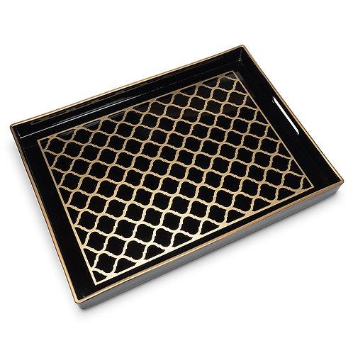 Black & Gold Rectangular Tray