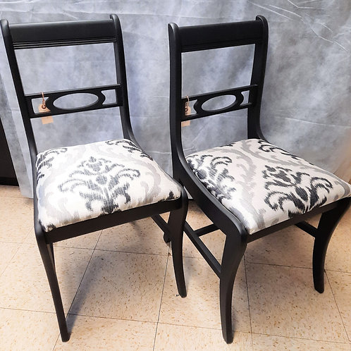 Duncan Fythe Chairs - Painted Black