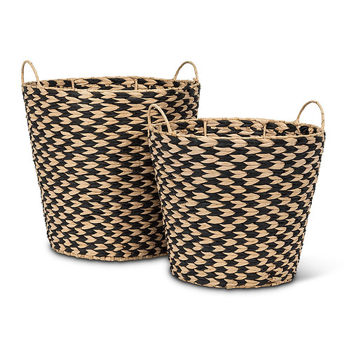 Set of 2 Tall Taper Baskets