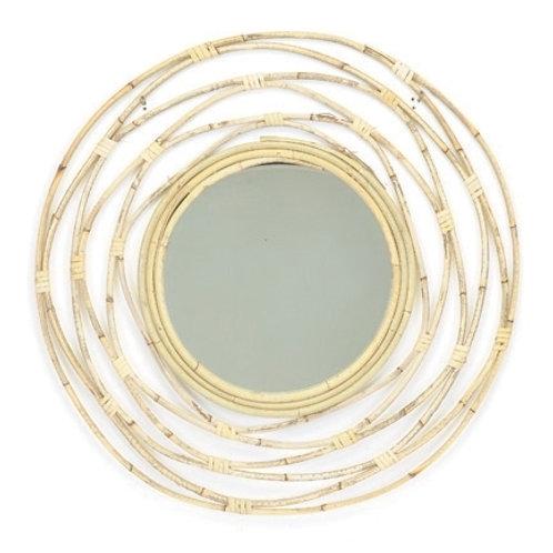 Round Rattan Mirror