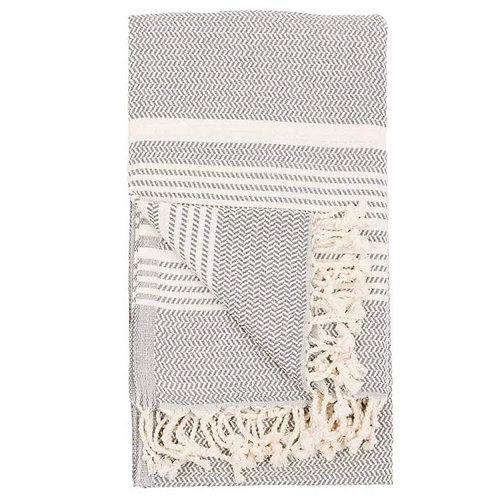 Pokoloko Hasir Turkish Towel Slate