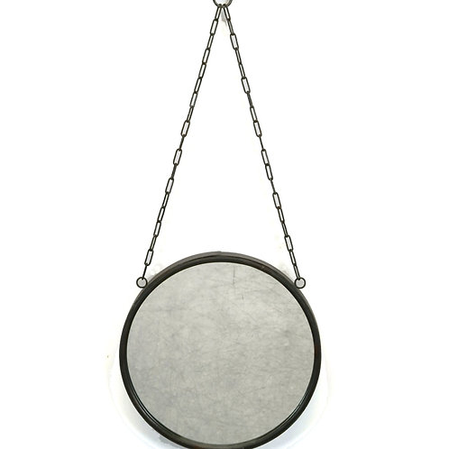 Round Mirror with Chain