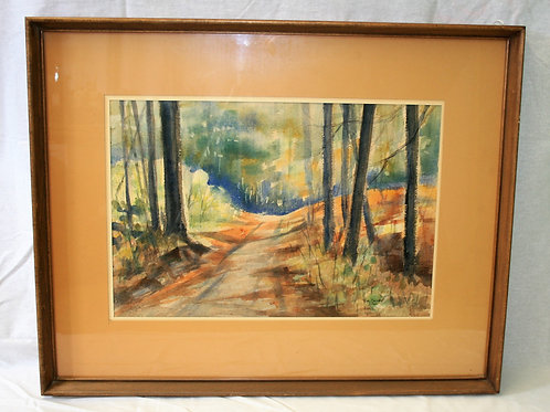 Original Watercolor - Forest - Tom Cayley