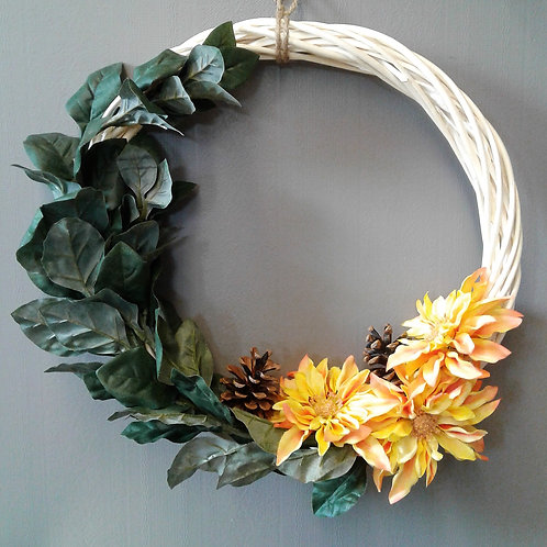 Large Wreath with Orange Flowers