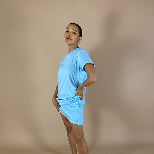 Blast From The Pastel: T-Shirt Dress (Multiple Sleeve Lengths)