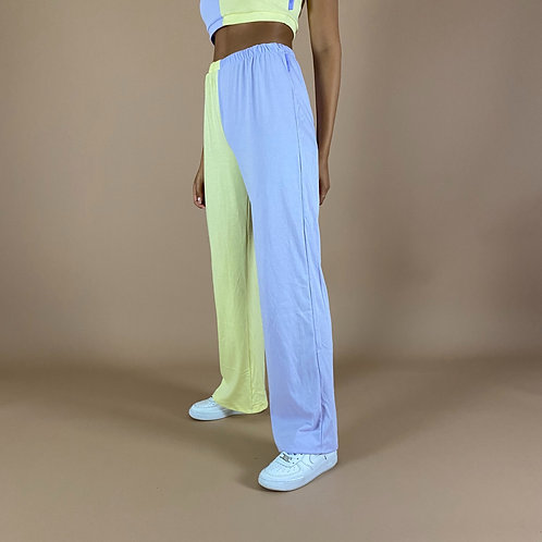 Blast From The Pastel: Half & Half Wide Leg Flares