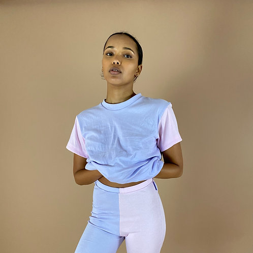 Blast From The Pastel: Half & Half T-Shirt (Multiple Sleeve Lengths)