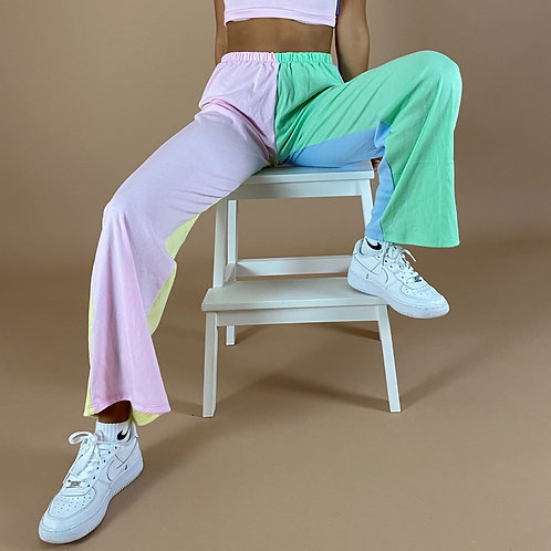 Blast From The Pastel: 4 Way Colour Block Flares