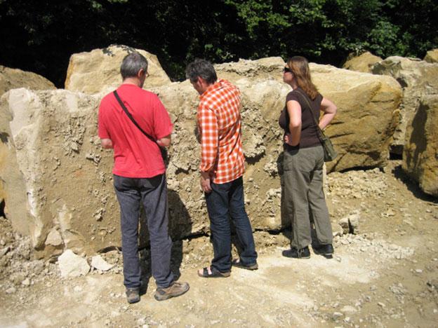 Symposium members at quarry. 2007.