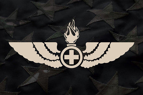 ORDIE WINGS (MEDICAL CROSS) STICKER