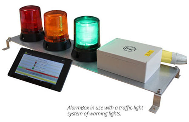 AlarmBox- בקר לציוד לדיכוי אבק, המתריע למשתמש