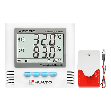 A2000-TH Sound & Light Alarm Hygro-thermometer