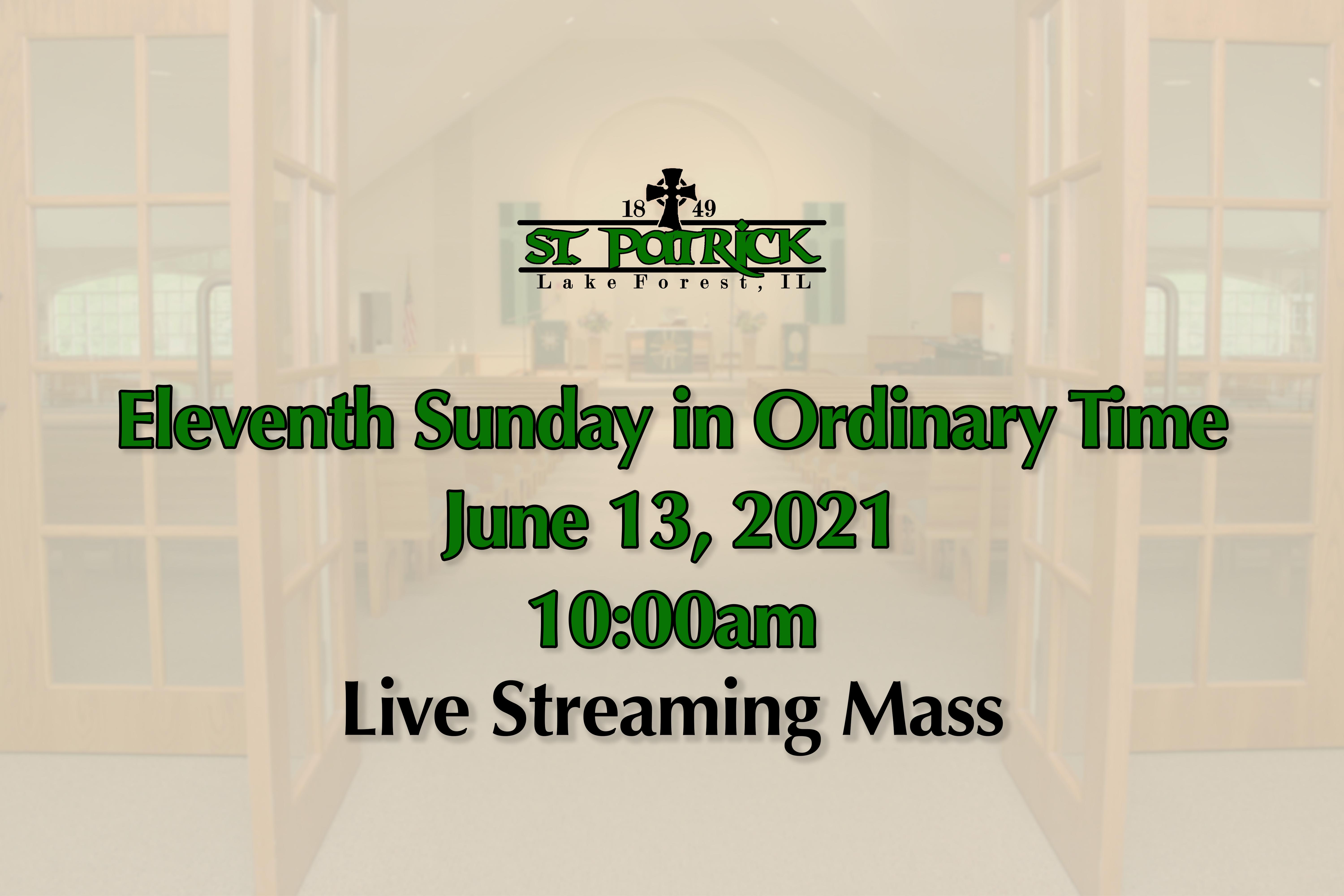 Live Streaming Mass 06-13-21 website ad