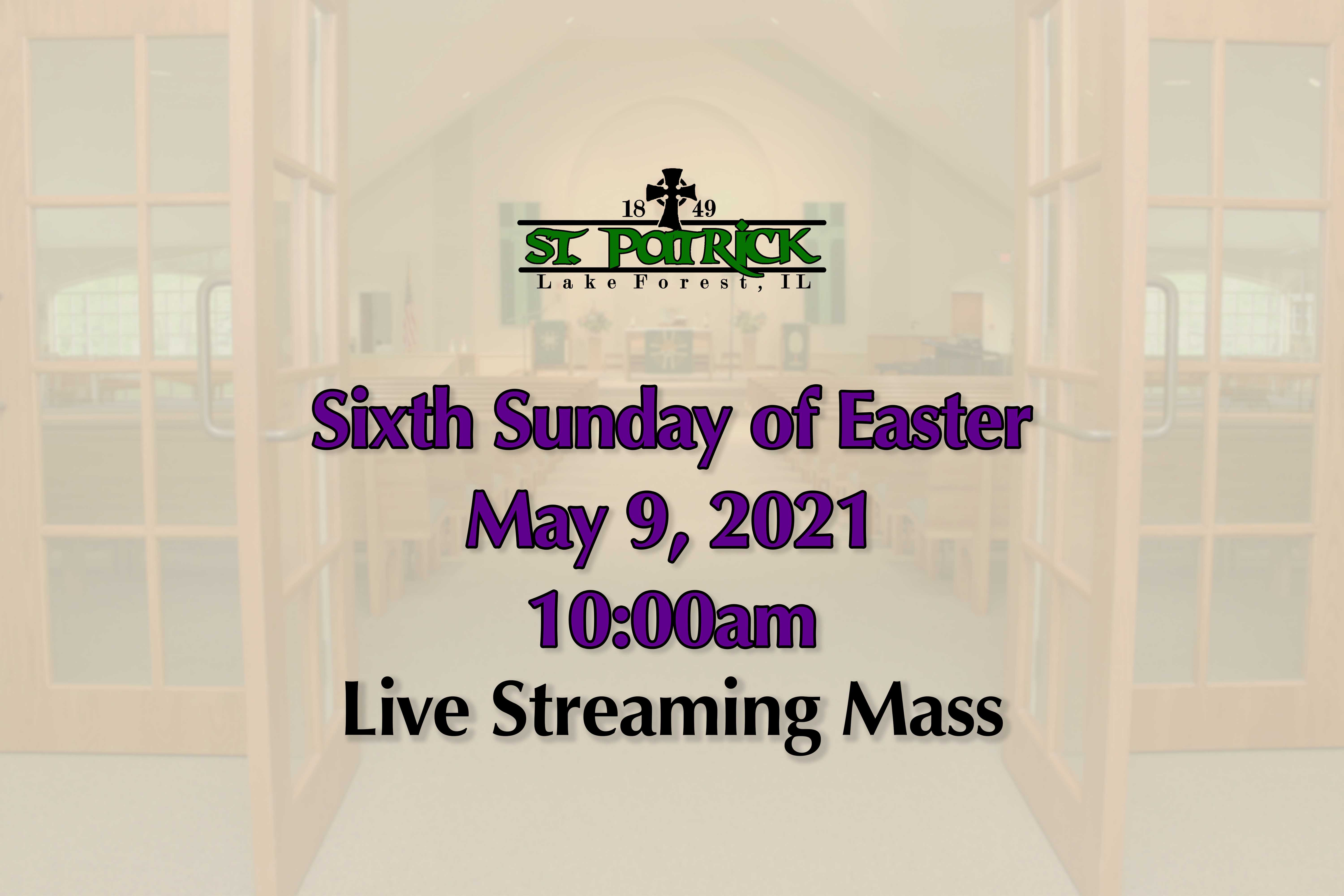 Live Streaming Mass 05-09-21 website ad