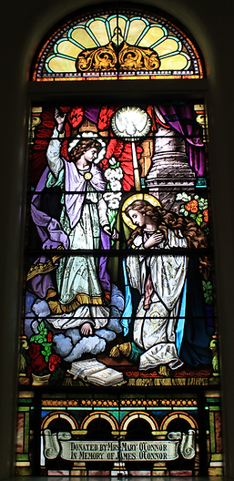The Annunication Window, Mary and James O'Connor