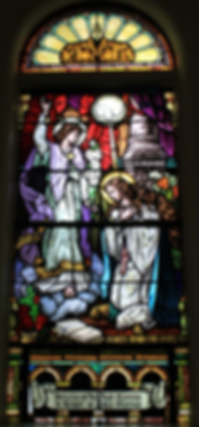 St. Patrick Church, Lake Forest, Illinois, The Annunication Window, Mary O'Connor, James O'Connor
