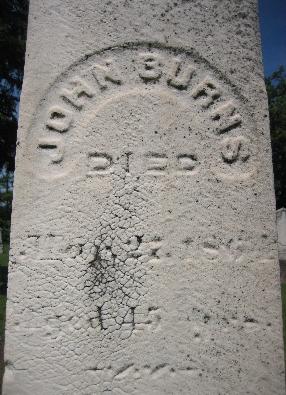 John Burns, St. Patrick Cemetery