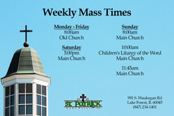 Mass Times at St. Patrick Church