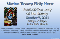 Marian Rosary and Holy Hour: Feast of Our Lady of the Rosary