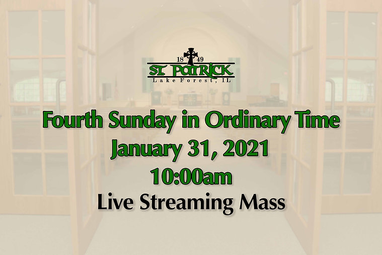 Live Streaming Mass 01-31-21 website ad