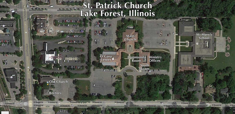St. Patrick Church, Lake Forest, Illinois, Campus Map