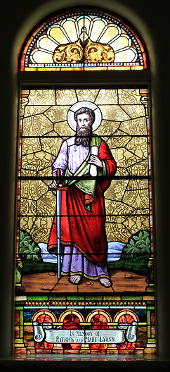 St. Paul Window, Patrick and Mary Lyons