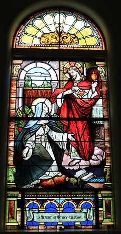 St.Margaret Mary Window, Mathew Atkinson, Sarah Ann Nolan Atkinson