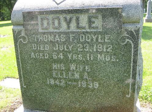 Thomas Doyle, Ellen A. Melody Doyle, St. Patrick Cemetery