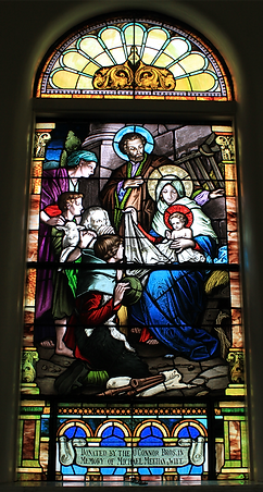 The Nativity Window, O'Connor Brothers, Michael Meehan, Bridget Meehan