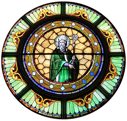 Edward J. Kennedy, Joseph Kennedy, Francis Kennedy, Raymond Kennedy, Edward Kennedy, Illinois Route 60, Kennedy Road, Lake Forest, Illinois, St. Patrick Church, St. Patrick stained glass window