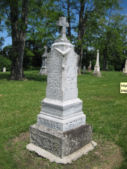 Sarah O'Boyle, Michael O'Boyle, Mary Swift O'Boyle, St. Patrick Cemetery