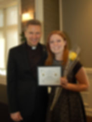 Vicariate 1 ACCW (Council of Catholic Women) and the Vicar General, Ron Hicks presented this year's Golden Rose Award to Audrey Shapiro of St. Patrick Catholic Church in Lake Forest, Illinois.