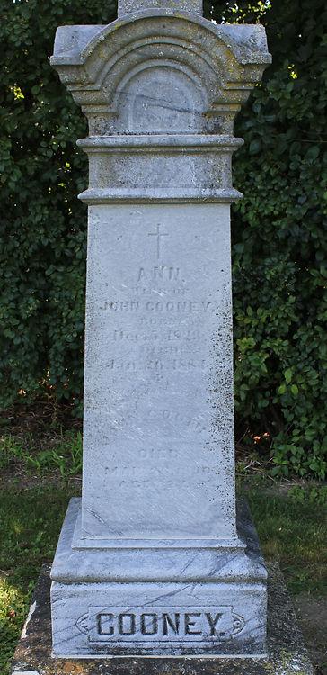 John Cooney, Ann Cooney, St. Patrick Cemetery
