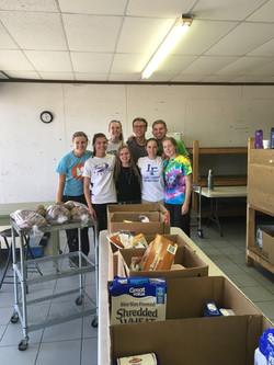 Team 1 at food pantry