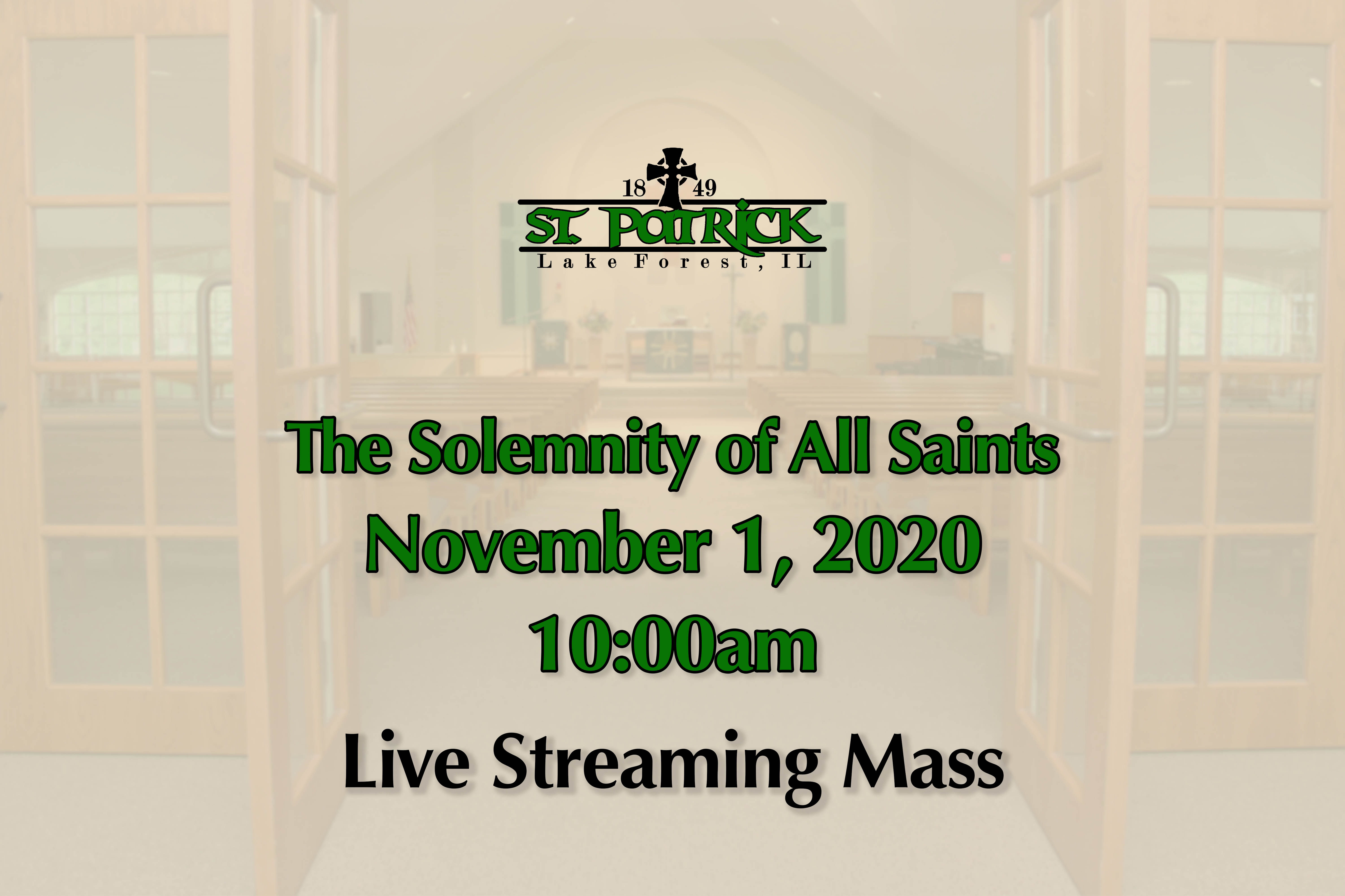 Live Streaming Mass 11-01-20