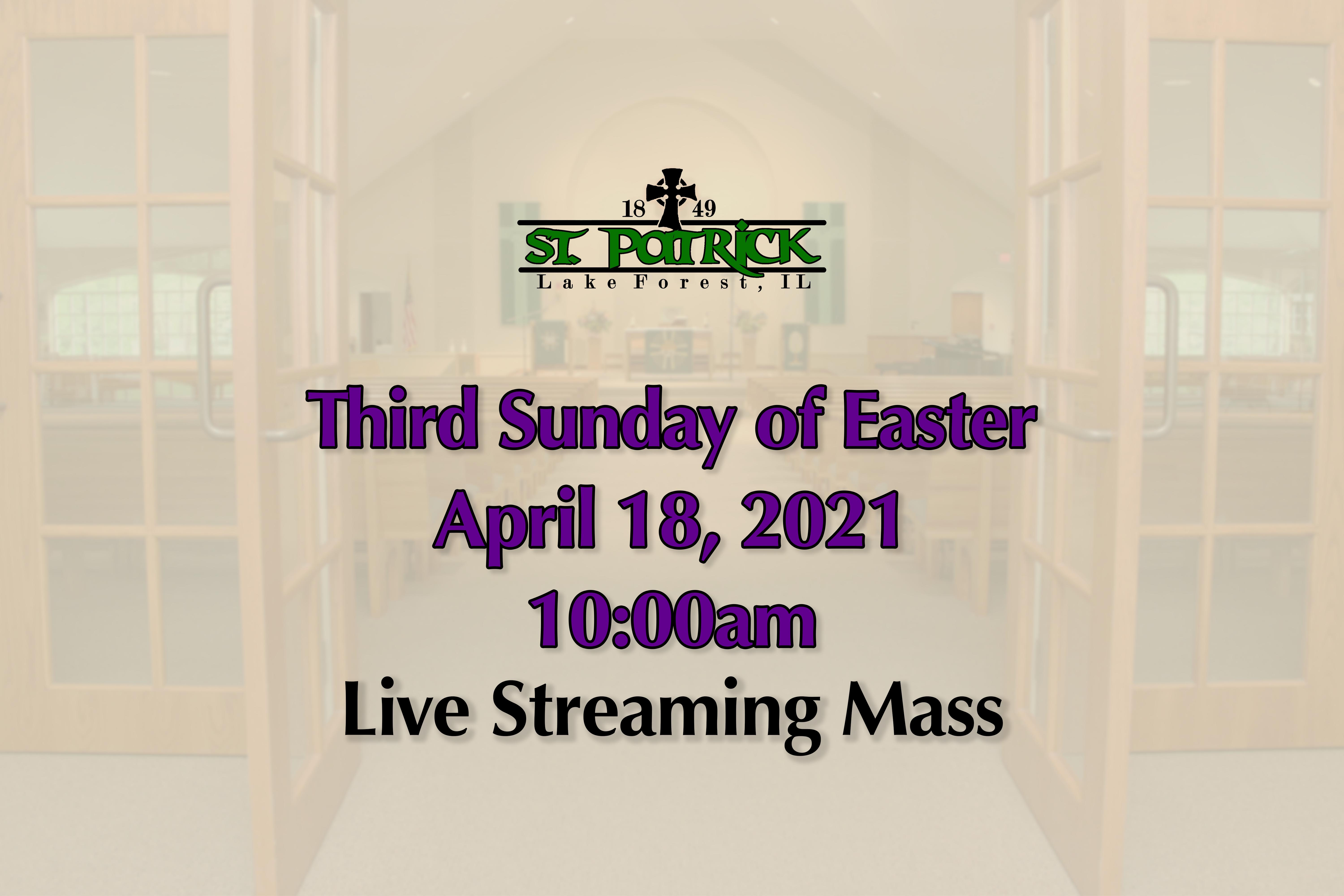 Live Streaming Mass 04-18-21 website ad