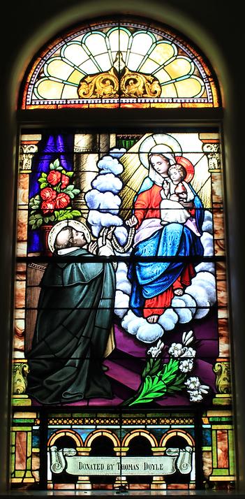 Thomas Doyle, St. Patrick Church, Lake Forest, Illinois, St. Dominic Window