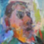 CJ - Head Study 1(81x81cm), oil on panel