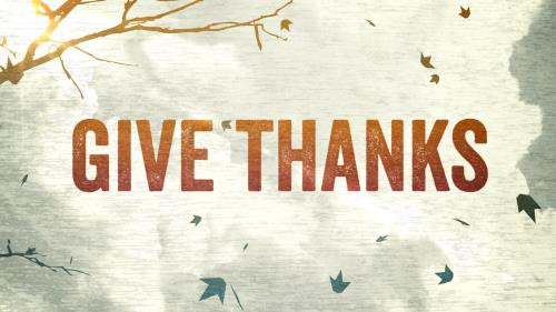 Heading into the Season of Thanks