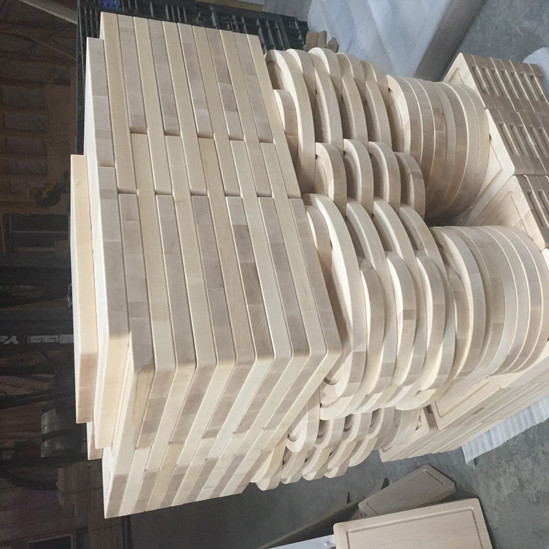Skid of Custom Cut Butcher Boards