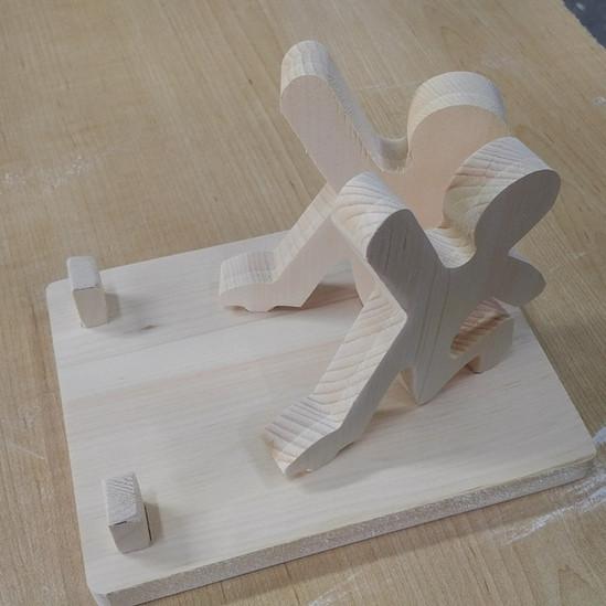 Custom Cut CNC Wood Book Holder