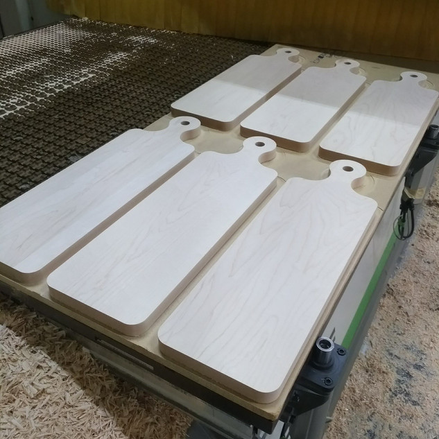 Bread Boards After CNC Milling