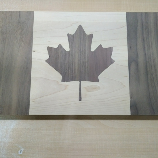 Unique Walnut and Maple CNC Milled Cutting Board