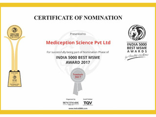 Nominated for Government of India's MSME Awards