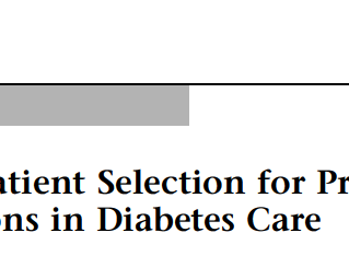 Publication of Diabetes Article