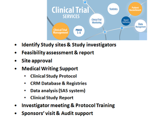 Providing full End-to-End clinical trial Management Services (CTMS)