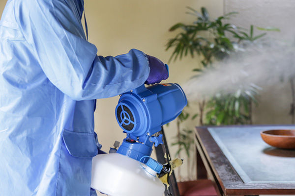 Disinfecting with Fogger
