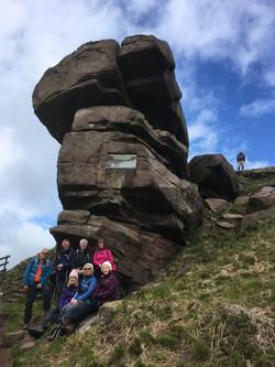 The hanging stone Danebridge Cheshire